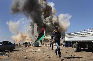 Opposition Rebels Battle Gaddafi Forces In Eastern Libya