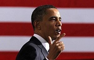President Obama Visits UPS Shipping Facility In Landover, Maryland