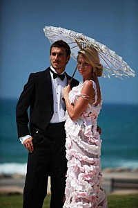 Flushing Brides - Israeli Models Wear Toilet Paper Wedding Dresses