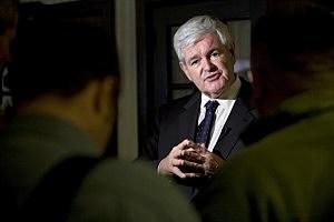 Republican Presidential Hopeful Newt Gingrich Kicks Off Iowa Tour In Dubuque