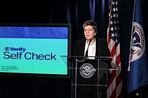 Napolitano Makes Announcement On Citizenship And Immigration Services Program