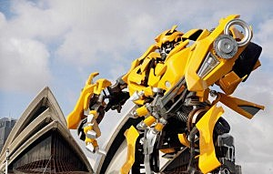 Transformers Robot Descends On Sydney