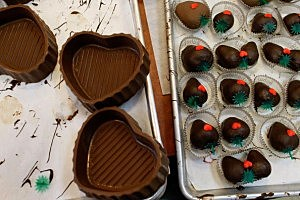 Chocolatier Prepares For Valentine's Day