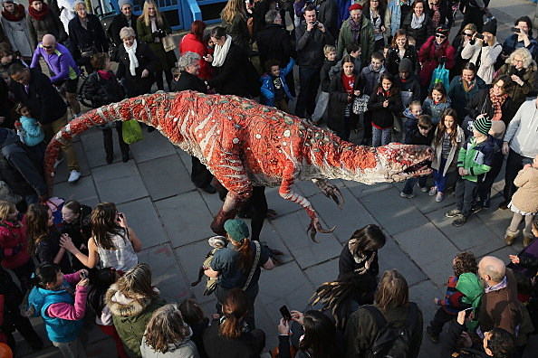 The Dinosaur Petting Zoo At The Imagine Children's Festival On The Southbank