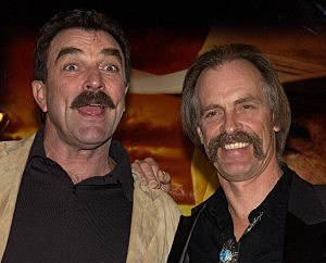 Selleck, Carradine At Film Premiere of Monte Walsh