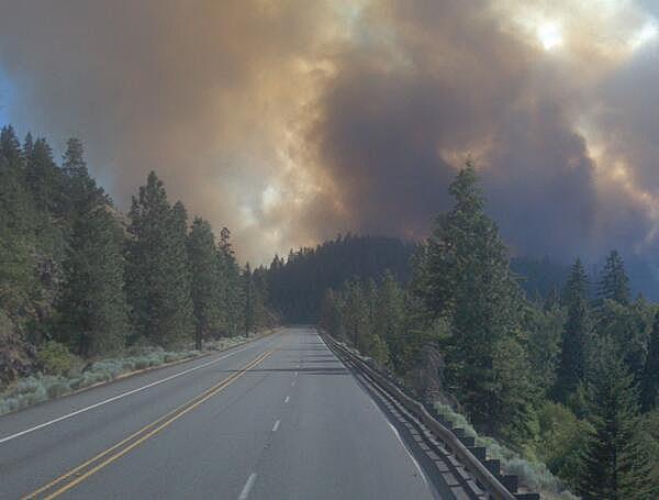 Mile Marker 28 Fire on US 97