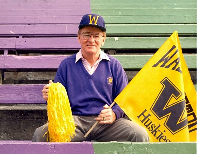 Former University of Washington football coach Don James