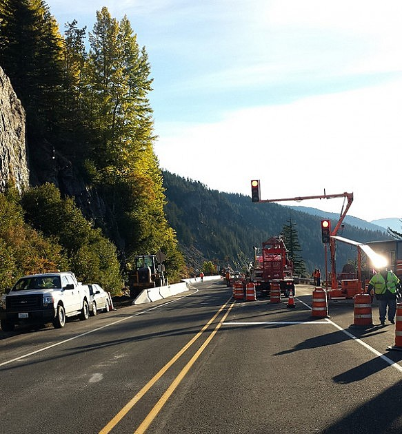 White Pass construction area