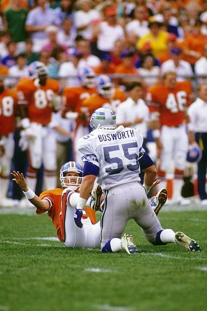 Seattle Seahawks v Denver Broncos John Elway Brian Bosworth