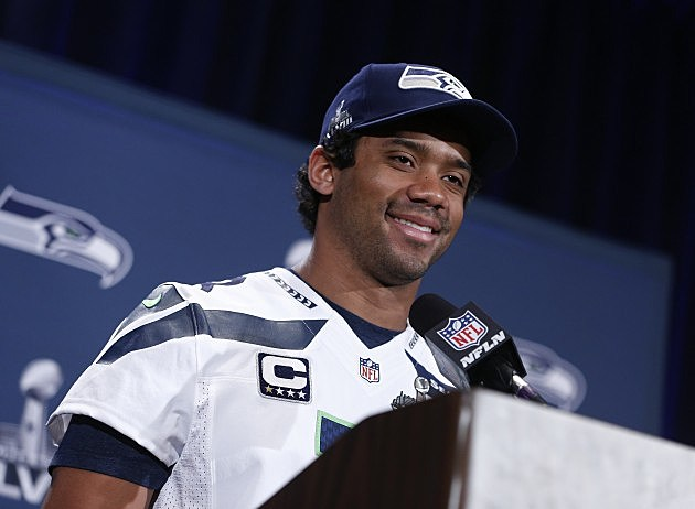 Seattle Seahawks Super Bowl XLVIII Media Availability Russell Wilson