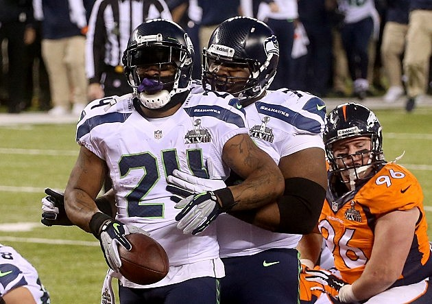 Marshawn Lynch Super Bowl XLVIII - Seattle Seahawks v Denver Broncos