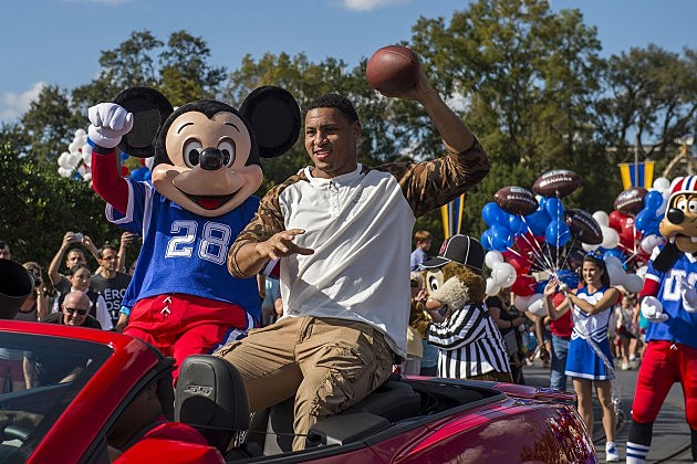Super Bowl XLVII MVP Malcolm Smith of the Seattle Seahawks Parade at Disney World