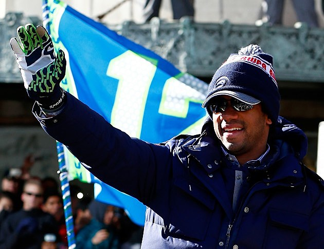Seattle Seahawks Victory Parade Russell Wilson