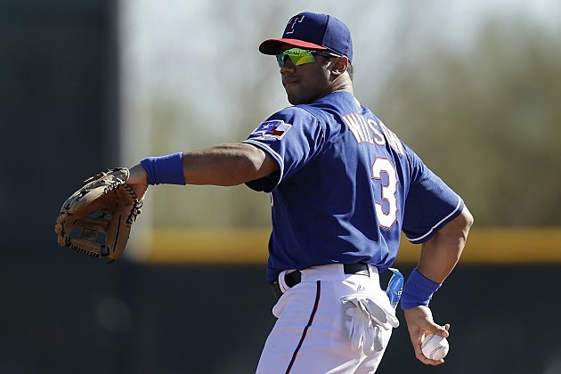 Seahawks Russell Wilson with the Texas Rangers