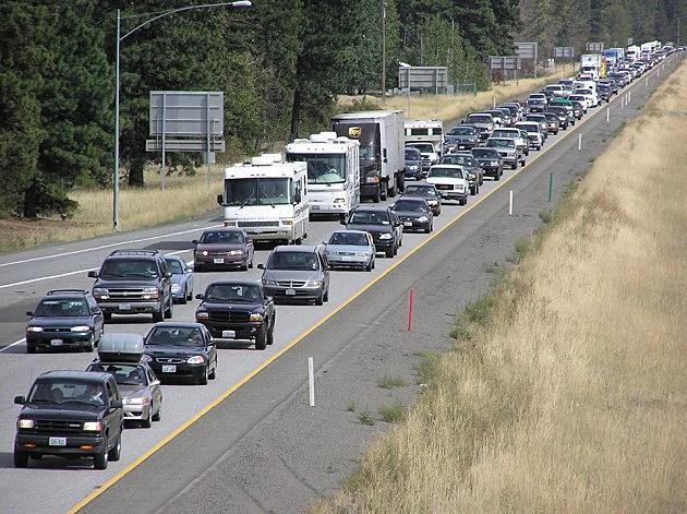 Snoqualmie Pass Traffic Jam