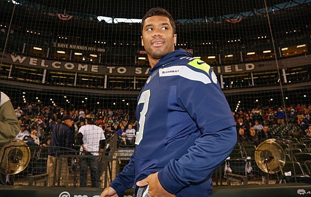 Russell Wilson Los Angeles Angels of Anaheim v Seattle Mariners