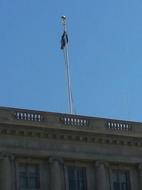 Courthouse Flagpole Rescue
