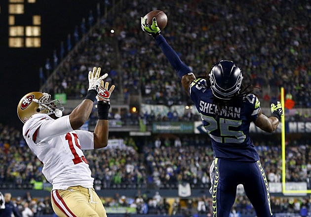 Richard Sherman NFC Championship - San Francisco 49ers v Seattle Seahawks