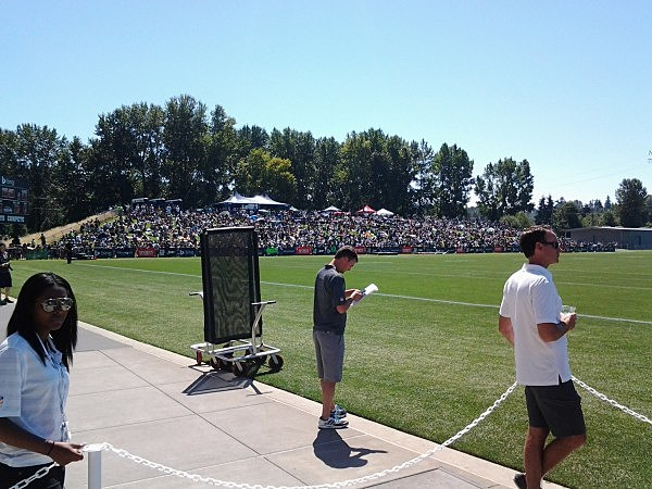 Seahawks Fans at Training Camp