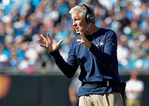 Pete Carroll Seattle Seahawks v Carolina Panthers