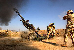Artillery Exercise In Afghanistan