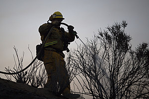 Wildfire North Of Los Angeles Burns Structures