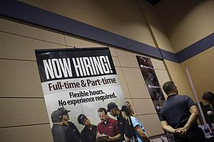 Inside A Job News USA Career Fair As Jobless Claims Figures Are Released