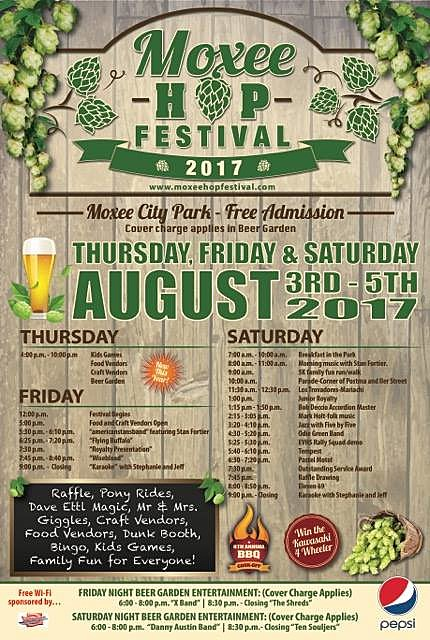 2017 Moxee Hop Festival Poster